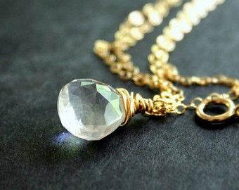 Aurora - Rock Crystal Drop Necklace