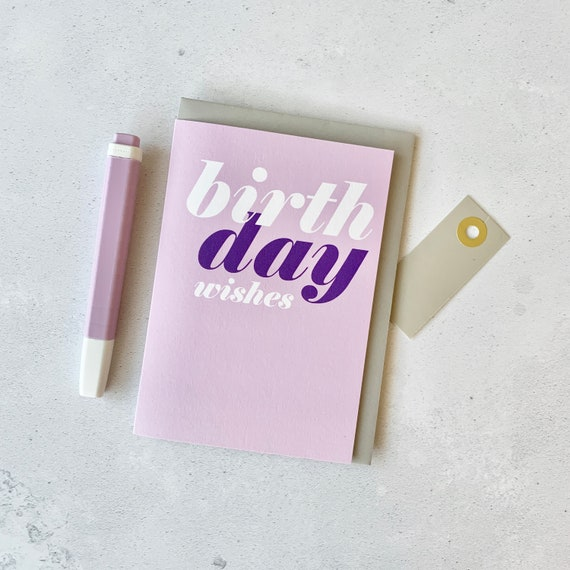 Enjoyable Happy Birthday Card Birthday Wishes Card Birthday Card Etsy Funny Birthday Cards Online Fluifree Goldxyz