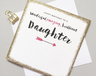 Daughter Birthday card - Daughter Birthday - wonderful amazing brilliant daughter Birthday card - My daughter card