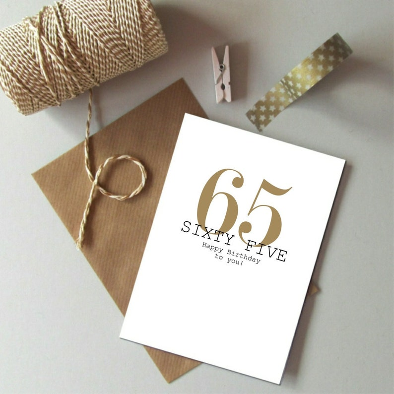 65th Birthday Card Happy Sixty Five