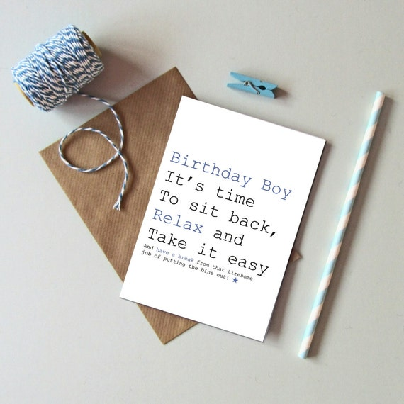 Male Birthday Card For Men Funny