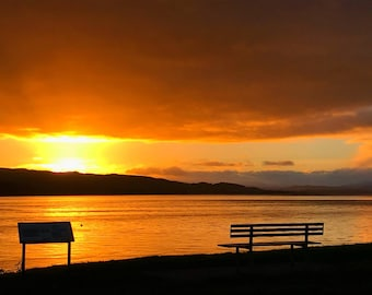 Framed North Kessock Sunset Photography Print.