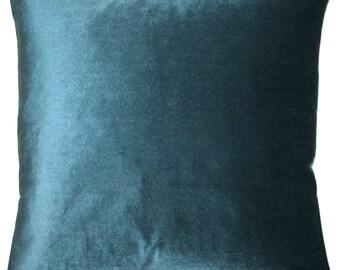 Corona Teal Velvet Pillow 16 in Insert Included 12x20 in 19 in