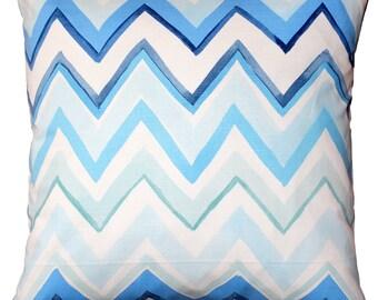Pacifico Stripes BlueThrow Pillow 20X20
