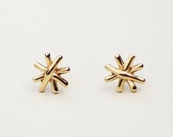 Small Stud Earrings, Minimalist Gold Jewelry, 14k Gold Stud Earrings, Dainty Stud Earrings, Dainty Gold Earrings, Star Stud Earrings