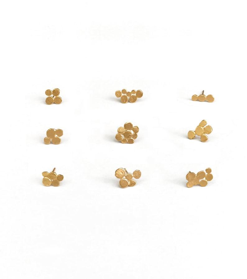 Singles minimalist single stud earrings mini cluster tiny image 0