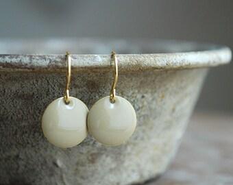 Grey enamel earrings