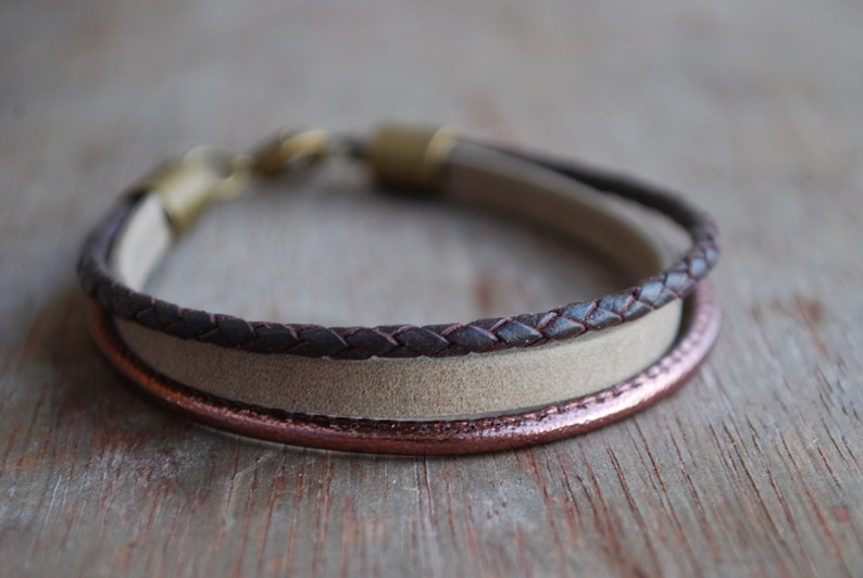 Braided leather bracelet  womens leather bracelet  casual modern Glazed Grape minimalist   gifts for her  fall winter trends