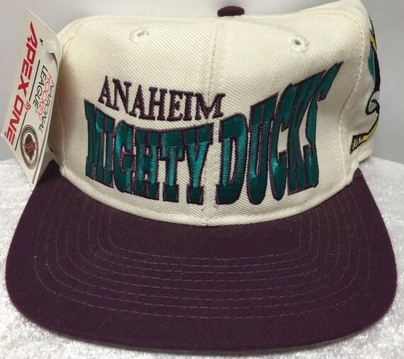 Vintage Apex One Anaheim Mighty Ducks Hat Etsy