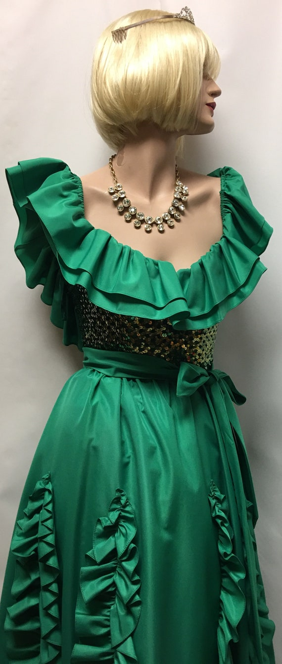 Vintage 80' Green Gown