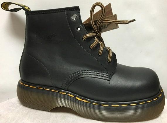 Vintage Dr. Martens Black Harvey Boots size 7 US
