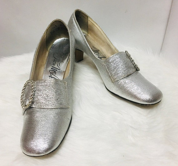 Thom Mcan 1960s Vintage Silver Shoes