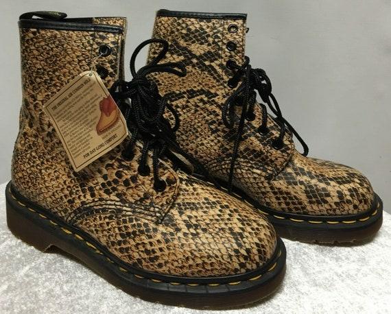 Vintage Dr. Martens Snake Print Boots