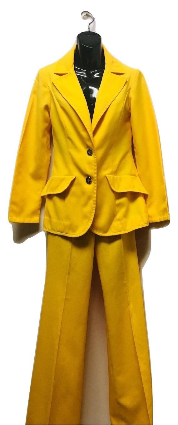 Vintage Solos Yellow Pants Suit