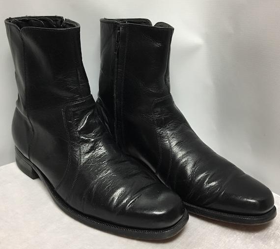 Vintage Florsheim Black Boots size 8B