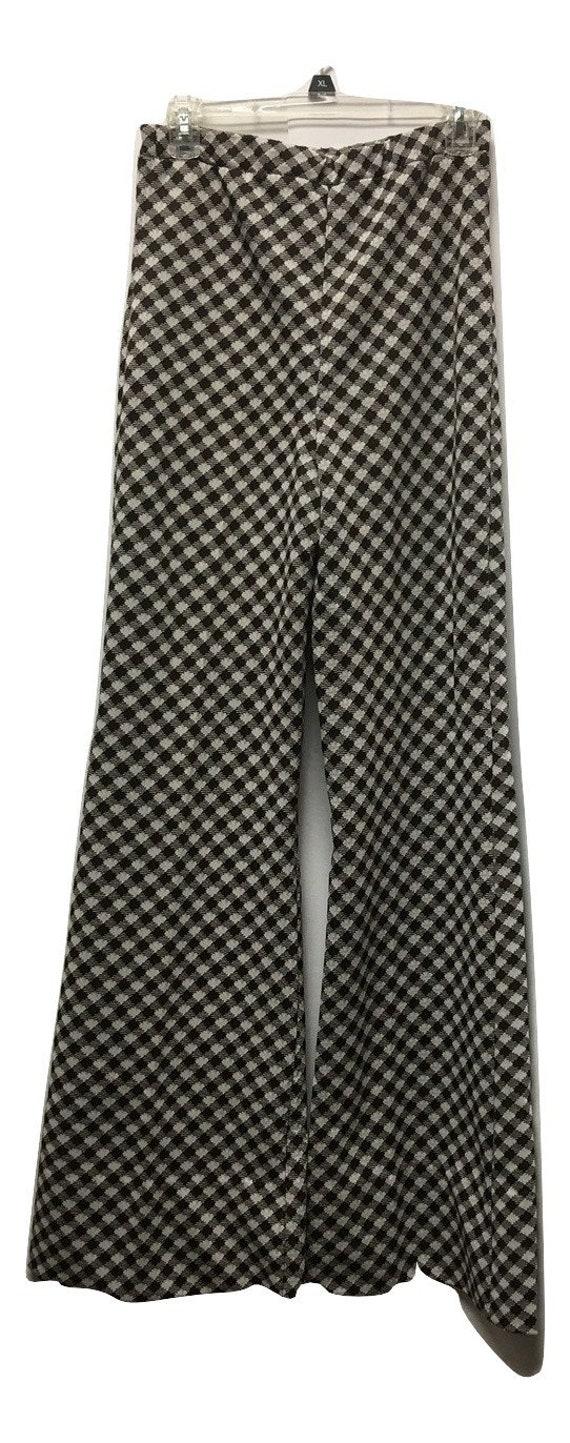 Vintage Knit Houndstooth Pants Suit - image 4