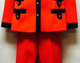 Vintage Lilli Ann Bright Red Suit