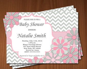 Baby Shower Invitation Flowers Baby Shower Invitation Girl Baby Shower Invitation Baby Shower Invites - Free Thank You Card Instant Download