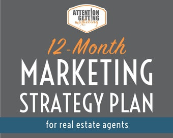 Real Estate Marketing 12 Month Strategy Plan, Real Estate Marketing Planner 2021 Template Business Plan, Real Estate Marketing Social Media