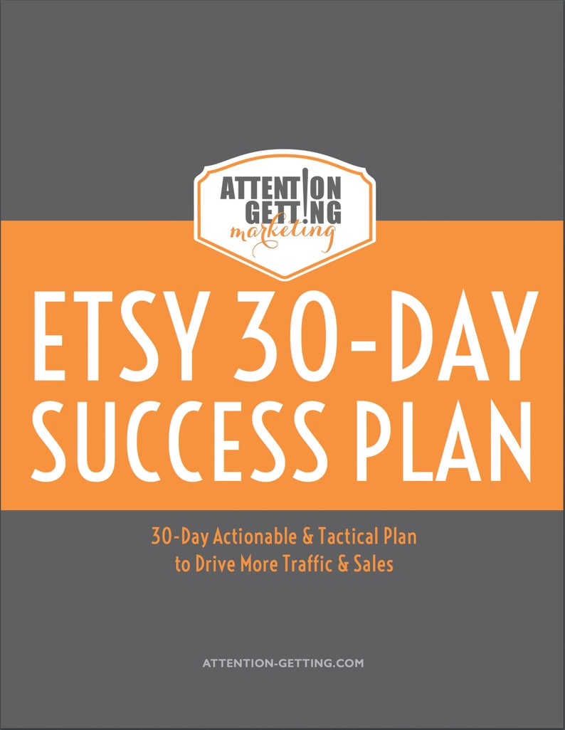 Top Seller Etsy 30-Day Success Plan Planner Etsy Marketing image 0