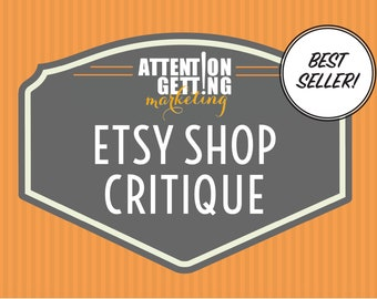 Etsy Shop Critique Phone Consultation + PDF with Critique, Personalized Etsy Shop Critique, Etsy SEO Help, Etsy Business Coaching