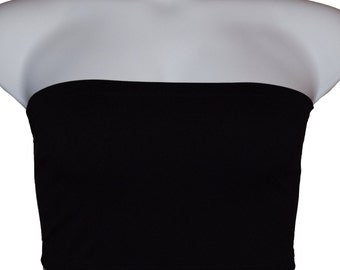 2ec1d44ef0 2 pcs Tube Top Strapless Bras Plus Size Seamless Bandeau Black Free Shipping