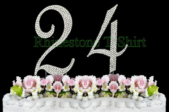 Cake Topper 40th Birthday Party Anniversary NEW Large Rhinestone  NUMBER 40