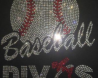 DIY Rhinestone  Baseball Divas Iron On Transfer Hot Fix Motif 10x7 inches