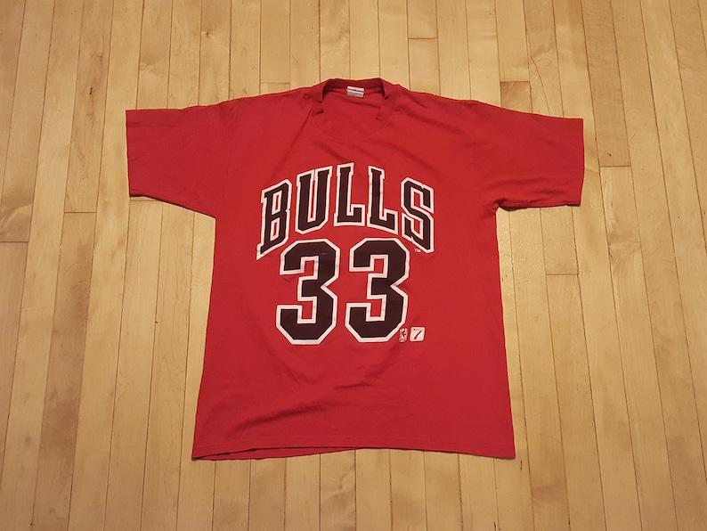c3f9a6a8114 90s Scottie Pippen Jersey Tee Super Soft Chicago Bulls | Etsy