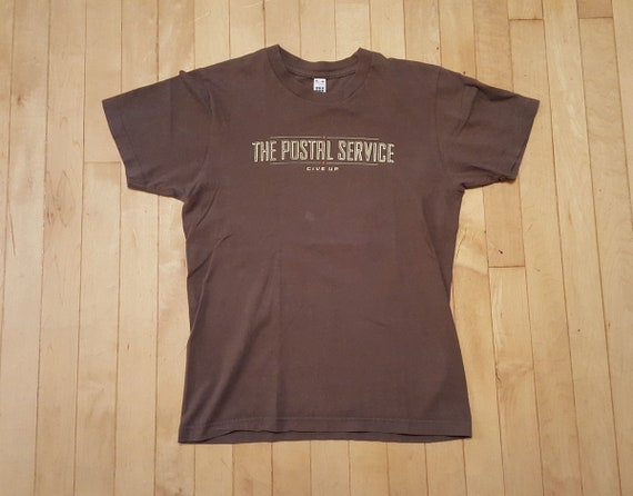 Postal Service Band Tee Shirt Give Up Death Cab For Cutie Etsy
