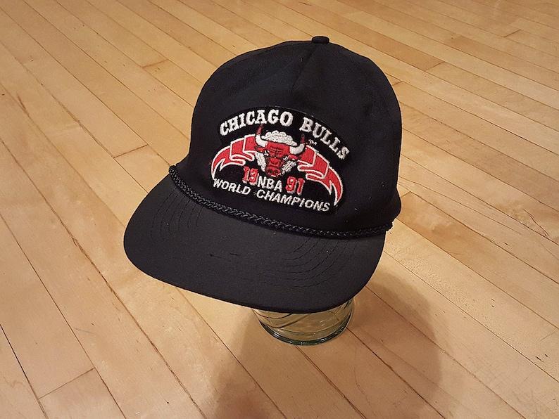 6a8518af5820 1991 Chicago Bulls Champions Snapback Hat Michael Jordan