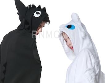 Lovers Cosplay Romper Charactor animal Hooded Nightclothes Pajamas Pyjamas  Costume outfit Sleepwear dargon b89d8dafe