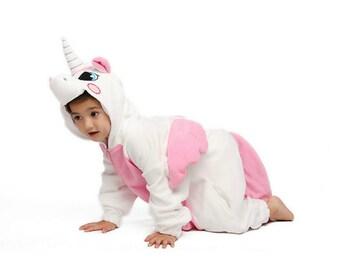 KIGURUMI Kid Cosplay Romper Charactor animal Hooded Kigurumi Pajamas Pyjamas  Costume sloth Onesie outfit Sleepwear pink unicorn 26031929f