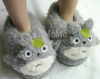 7c05b474f92 Totoro Slipper Unisex Animal Soft Plush Claws Slippers Warm Shoes