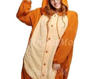 3f4043f388 KIGURUMI Cosplay Romper Charactor animal Hooded PJS Pajamas Pyjamas Xmas  gift Adult Costume sloth outfit Sleepwear sika deer