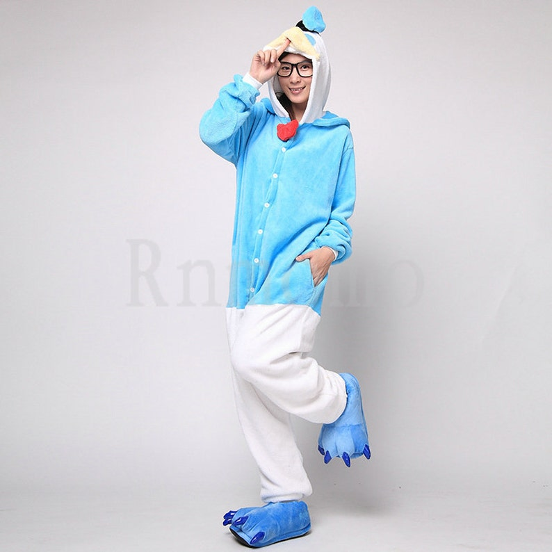 cdf24eae4a98 Donald Duck Costume Kigurumi Pajamas Adult Onesie Pajamas