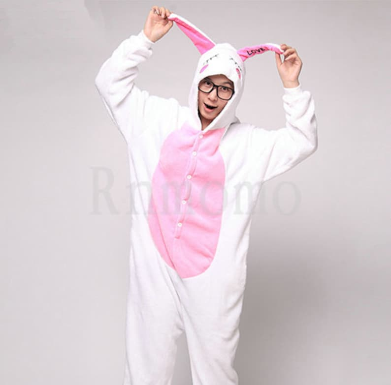 Love Rabbit Pajamas Sets Adult Onesie Pajamas for Women Men  08c85b6ab