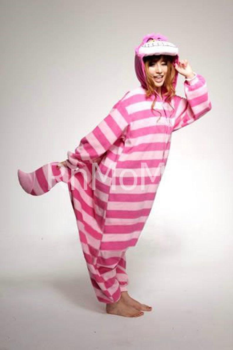 KIGURUMI Cosplay Romper Charactor animal Hooded Night clothes Pajamas Pyjamas Costume sloth  outfit Sleepwear   cheshire cat