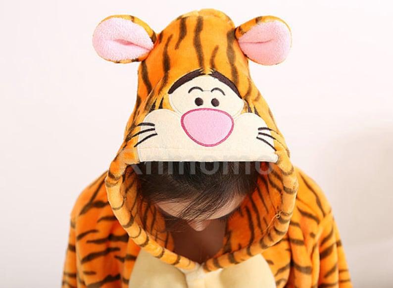 99a5032775 Tigger Onepiece Tiger Onepiece Tigger Pajamas Kigurumi Pooh