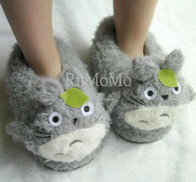 62ca0d5050b5 Totoro Slipper Unisex Animal Soft Plush Claws Slippers