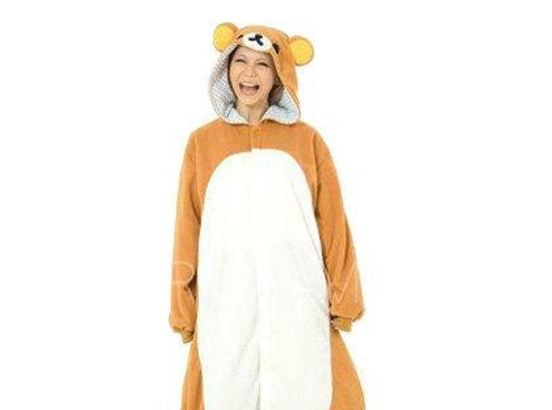 de2fb7171 Adult Onesie Pajamas Kigurumi Rilakkuma Pajamas for Women Men