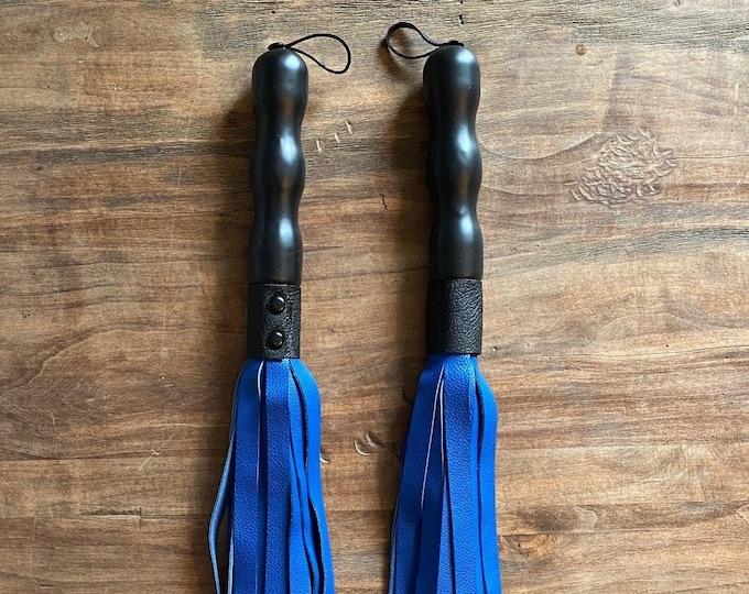 Royal Blue Leather Flogger