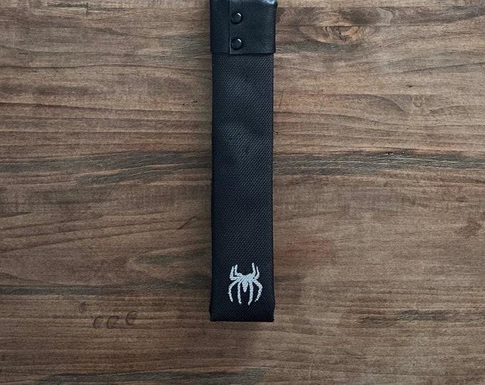 Black Shot Loaded Fire Hose Paddle w Spider Design