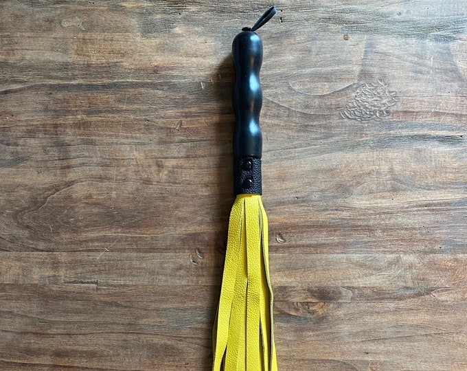Yellow Leather Flogger
