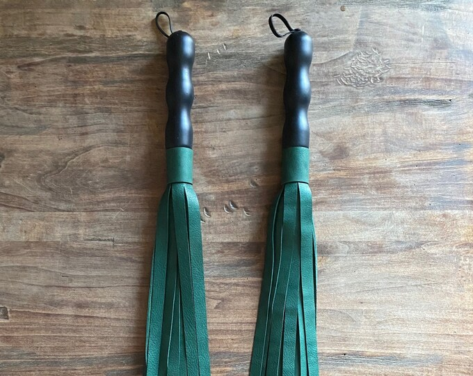 Green Leather Flogger
