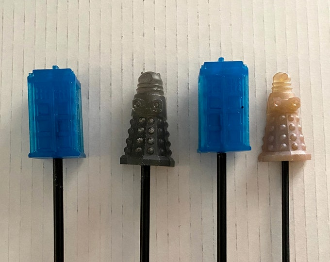 Wicked Wands - Doctor Who Tardis & Dalek