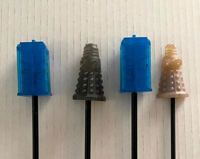 Wicked Wands - Doctor Who Tardis & Dalek