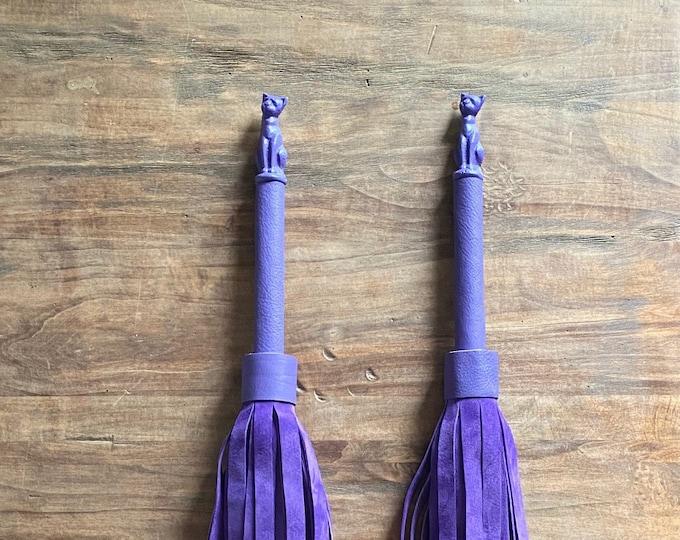 Purple Suede Cat Flogger