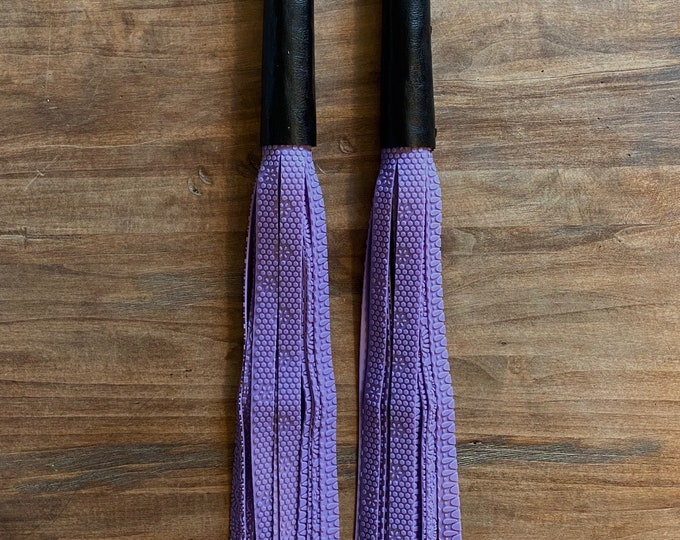 Lavender Textured Silicone Floggers