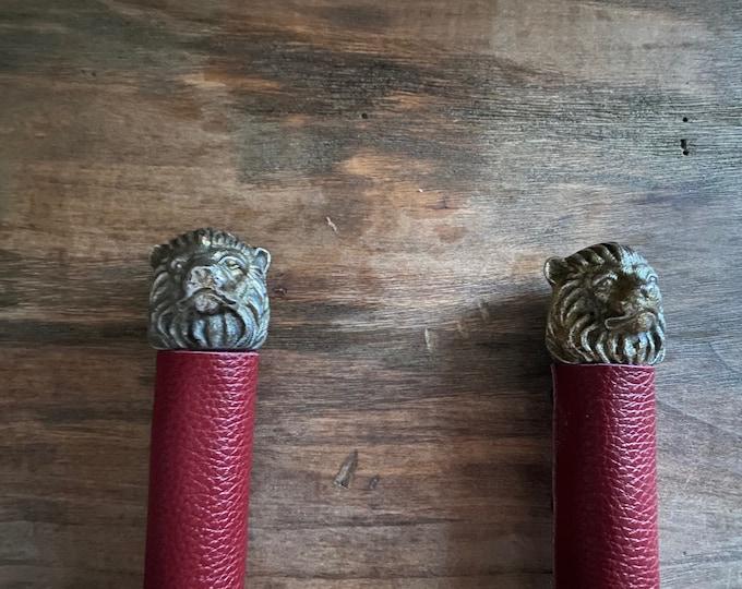 Gryffindor Inspired Leather Flogger